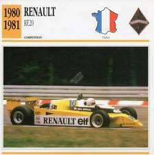 1980-1981 RENAULT RE20 Racing Classic Car Photo/Info Maxi Card