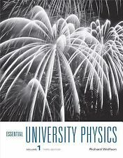 Essential University Physics: Vol 1 3rd Ed. by Richard Wolfson(2014, Paperback)