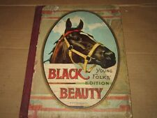 Black Beauty Young Folks' Edition M.A.Donohue 1900's 1914 1912