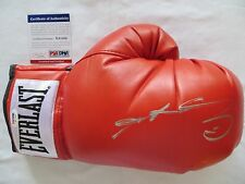 SUGAR RAY LEONARD SIGNED AUTOGRAPH RED RIGHT BOXING GLOVE PSA