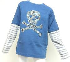 Boy's Emma Bunton SKUL Print Long Sleeve Top - Grey & Blue -Age 3-4 yrs NEW !!