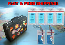 4 Carnival Norwegian Cruise Line Luggage Tag Holders & 2 I.D.Holders & Lanyards