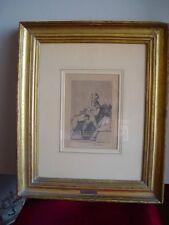 Grabado de Goya. Caprichos. Al conde Palatino