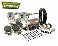 Viair Chrome Dual Twin 380C Air Compressor Kit (200PSI) Air Ride Kit 12 Volt