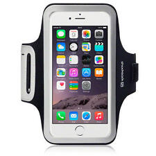 Shocksock Black Reflective Gym Jog Sports Armband Case For iPhone 6 Plus / 6S Pl