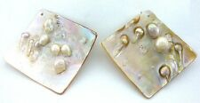 ONE Square Natural Mabe Blister Pearl Shell Gemstone Gem Stone Focal Bead ES7857
