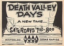 1964 TV AD~DEATH VALLEY DAY'S WESTERN SERIES~COVERED WAGON~KWWL WATERLOO,IOWA