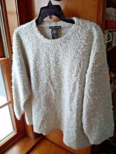 Ladies Chelsea & Theodora Ivory Boucle pull-over sweater...Sz.XL..NWT.
