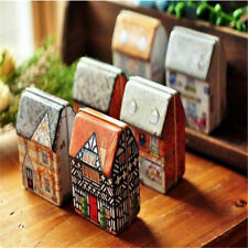 Small House Handbag Tin Storage Case Iron Jewelry Candy Box Bag Children Gift