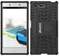 AMZER Rugged Dual Layer Hybrid Warrior Case For Sony Xperia X Compact - Black