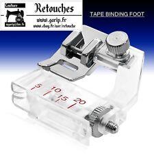 Pied à clip pose biais réglable binder pieds-de-biche machine à coudre F071