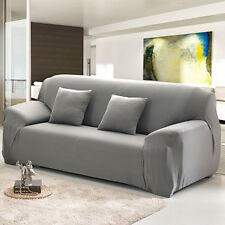 Arm Chair 2 Seater Stretch Sofa Couch Lounge Protect Slip Cover Slipcover Gray