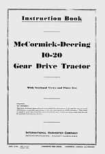 McCormick-Deering  10-20  Instruction and Parts Book