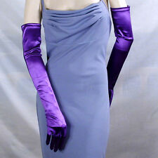 """Opera Gloves 23"""" Long, Smooth Satin Stretch for Formal Evening Bridal Prom  G163"""
