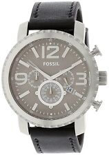 Fossil Men's BQ1175 Black Leather Quartz Watch