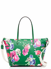NWT KATE SPADE New York Grant Street Green Adaira Flowers Diaper Bag Tote $398