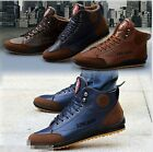 Winter Men's Casual Leather High Top Sneaker Lace-up Work Shoes Ankle Boots
