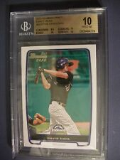 DAVID DAHL 2012 Bowman Draft #104 BGS PRISTINE 10 RC Rockies 1st Bowman