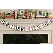 Bride To Be Bunting Banner Garland Wedding Hen DO Bridal Shower Party Decoration