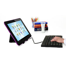 "Purple 7"" inch Android 4.2 Dual Core Wifi Tablet PC Dual Camera +Keyboard&Stand"