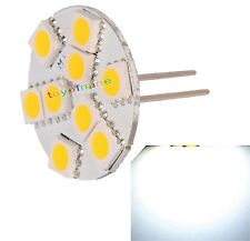 G4 9 LED SMD 5050 Lampe Pin Vertical Blanc Chaud 3500K voiture Spot Light Marine