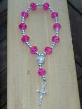 TRENDY SIDEWAY CROSS RHINESTONE LIGHT PINK BRACELET ARM CANDY LOVE AND HIP HOP