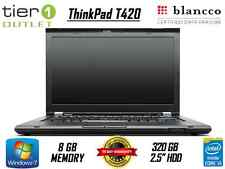 "Lenovo ThinkPad T420 14.1"" 320GB Intel Core i5 @ 2.5GHz 8GB Windows 7 Pro Laptop"
