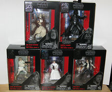 Star Wars Black Series Titanium 40th Anniversary Set Of 5 Vader Kenobi Leia Solo