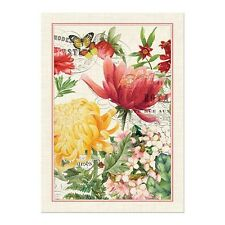 Michel Design Works Cotton Kitchen Tea Towel Morning Blossoms - NEW
