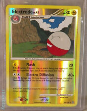 Pokemon Card TCG Electrode LV 43 HP 80 37/100 Holo in Hard Sleeve