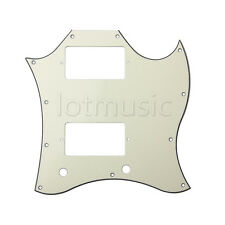 Guitar Full Face Pickguard For Gibson SG Standard Parts 3 Ply Pale Yellow