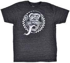 Gas Monkey Garage Face Logo T-Shirt Charcoal Gray Car Auto Authentic XS-3XL NEW
