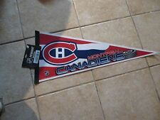 MONTREAL CANADIENS TEAM PENNANT (FULL SIZE 12X31) TEAM COLOR COOL LOGO NWT