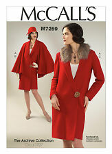 SALE! McCall's M7259 1927 Coat Archive Collection Cosplay Sewing Pattern Sz 6-14