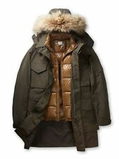 CP Company Two-Layered Fur Hooded Parka Jacket In Military Green BNWT