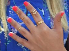 6PCS/Set Fashion Ladies Knuckle Finger Joint Plated Finger Ring Jewelry Gift