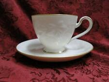 Noritake Halls of Ivy, 7341, Ivory w/ Raised Leaves: Cup & Saucer Set, 2 7/8""
