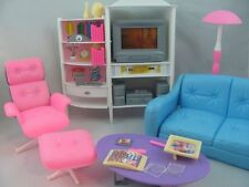 Barbie Size Dollhouse Furniture Family Room TV Otto  Sofa New