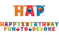 Sesame Street 1ST Birthday Party Supplies JUMBO LETTER BANNER KIT