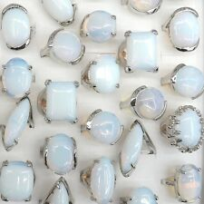Big Gemstone Rings Natural Opal Rings 50pcs/lot Wholesale