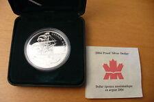 TRÈS JOLIE MÉDAILLE  ARGENT DOLLAR CANADA 2004 EN COFFRET
