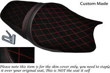 RED DIAMOND DESIGN CUSTOM FITS KAWASAKI ZZR 1400 ZX14R 12-14 SUEDE SEAT COVER