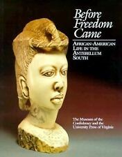 Before Freedom Came: African-American Life in the Antebellum South American Lib