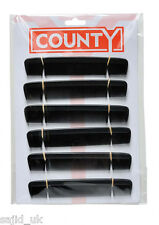 "12x County Mens Gents 6"" Inch Black Pocket Hairdressers Dressing Hair Comb"
