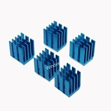 10pcs 9x12x12mm adhesive Blue Aluminum Heat Sink For Memory Chip IC NEW