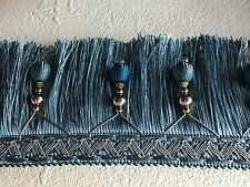 Luxury Tassel Fringe with Beads 11cm **DIFFERENT COLOURS** x 1 yd