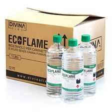 x12 Bioetanolo da 1lt combustibile ecologico naturale inodore camino biocamino