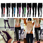 Women Capri Yoga Running Leggings Fitness Sport High Waist Cropped Pants Trouser