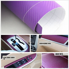 "15""x 39"" purple Carbon Fiber Vinyl Wrap Stickers Car Interior Accessorie Panel"