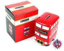 NEW VINTAGE ROUTEMASTER 3D LONDON RED BUS STYLE MONEY BOX PIGGY BANK POT